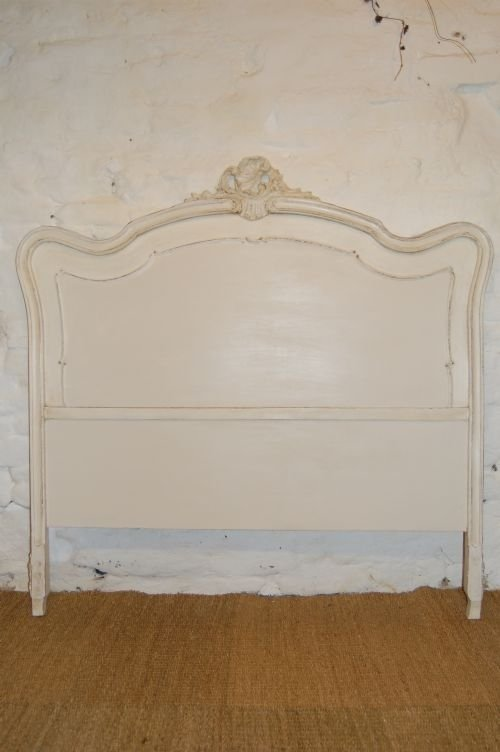 antique louis xv double bed headboard