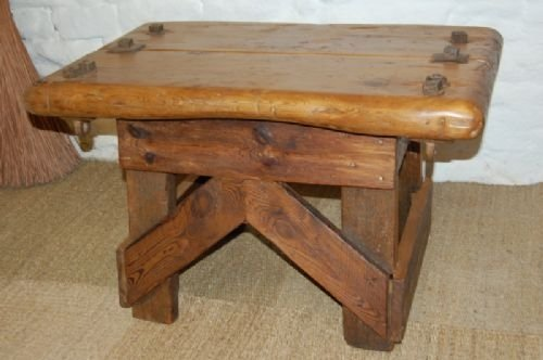 antique industrial coffee table side table sofa table