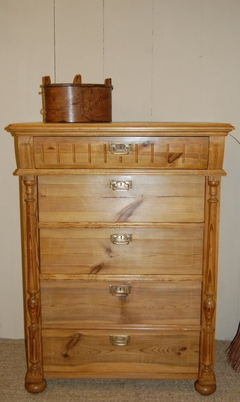 antique swedish pine chest of drawers