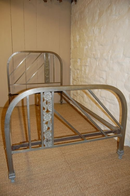 french art deco brass single bed