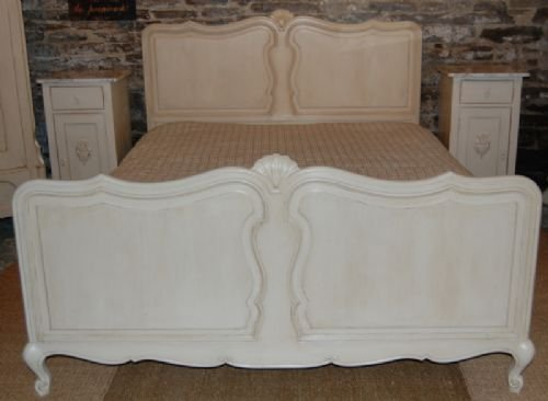 antique french large oak double bedking size