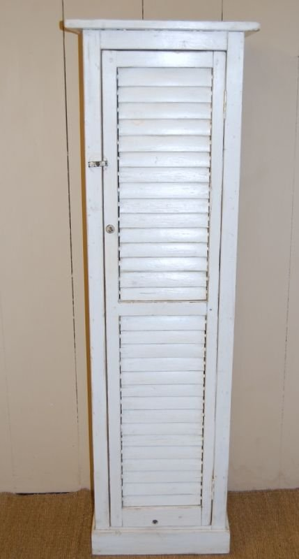antique shutter door storage cupboard