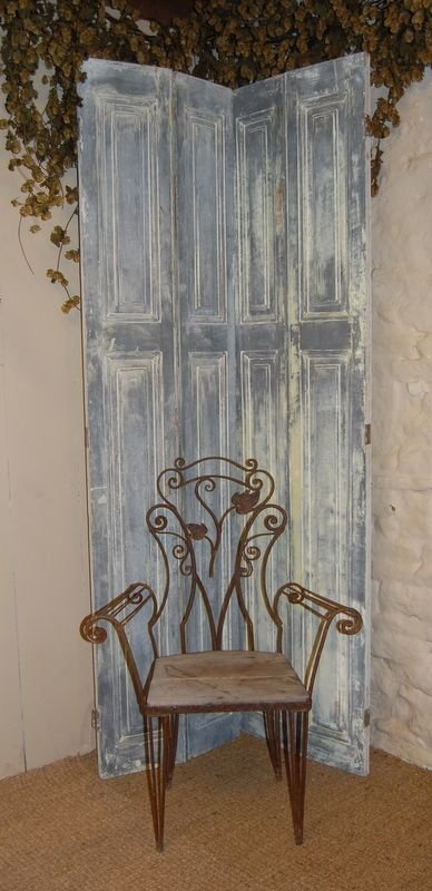antique pair french window shutters