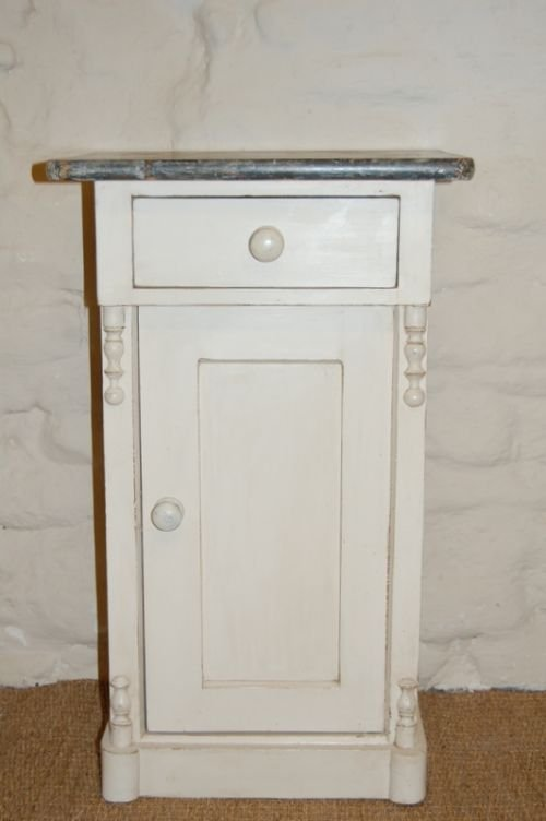 antique pine bedside cabinet pot cupboard
