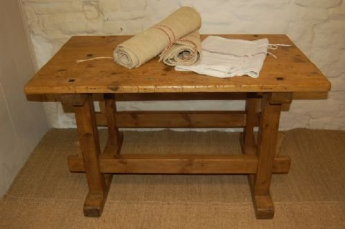 antique country pine trestle table kitchen table island table