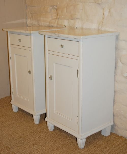 antique pair of pine bedside cabinets bedside tables pot cupboards