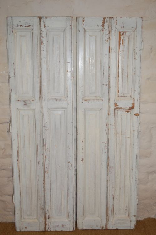antique pair of french window shutters