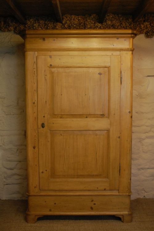 antique regency single pine wardrobe 1820