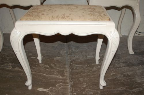 antique french upholstered stool