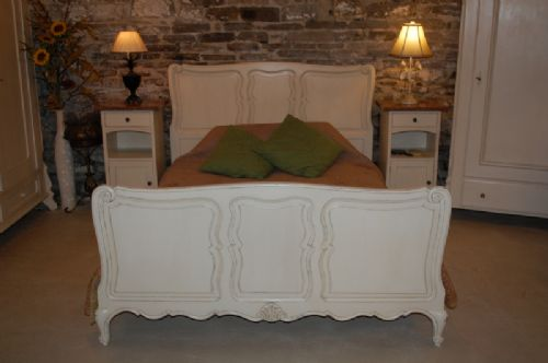 antique french provencal near king size bed