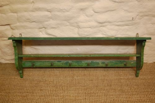 antique pine wall shelf delft rack