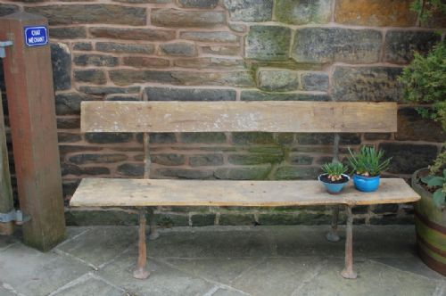 antique french cast iron twig garden bench