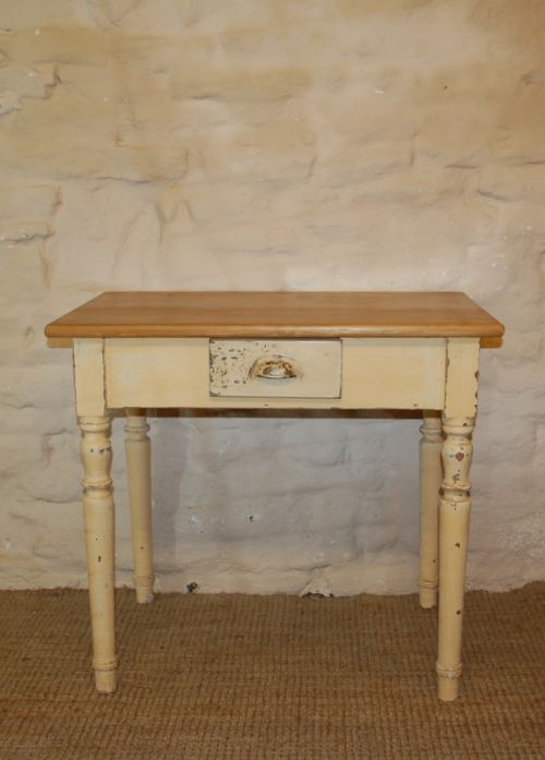 antique rustic painted side table desk 1860