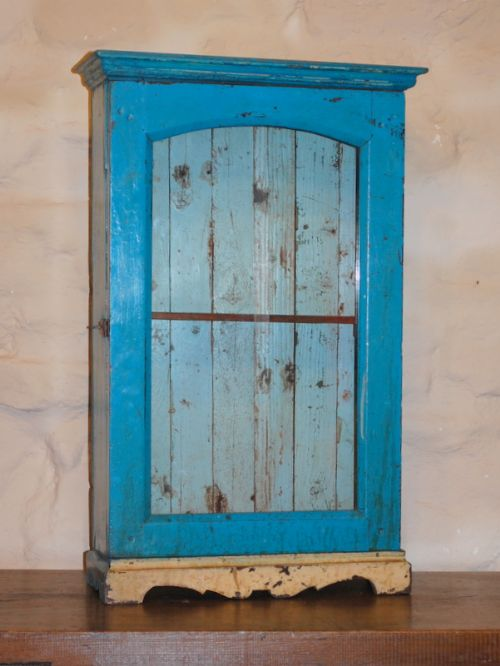 antique rustic wall cabinet hanging cupboard