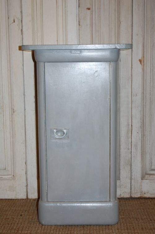 antique industrial side cabinet cupboard