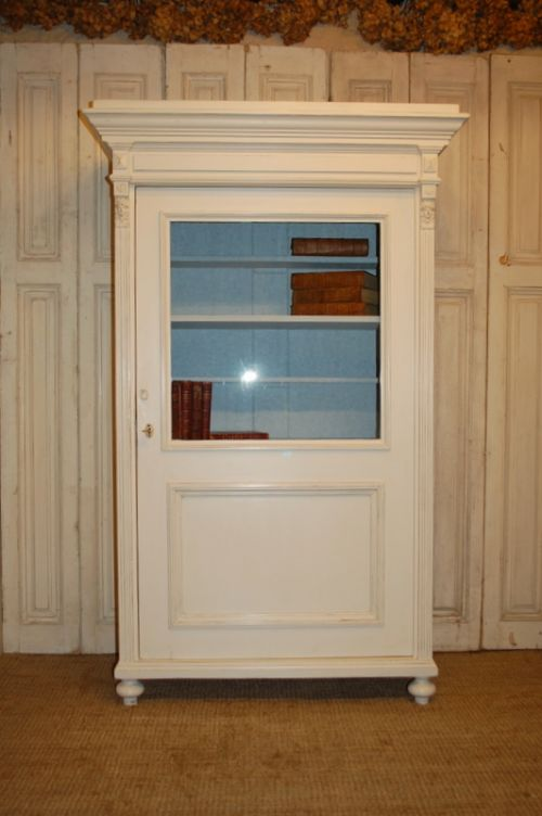 antique pine glazed cabinet display cabinet bookcase