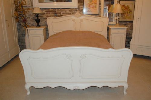 antique french oak louis xv revival double bed
