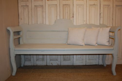 antique pine country settle bench 1880
