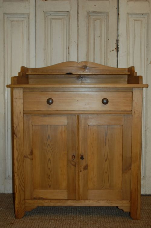 antique pine washstand storage cabinet 1900