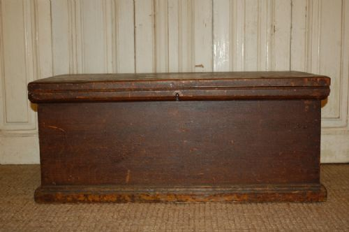 victorian pine bedding box chest trunk original paint