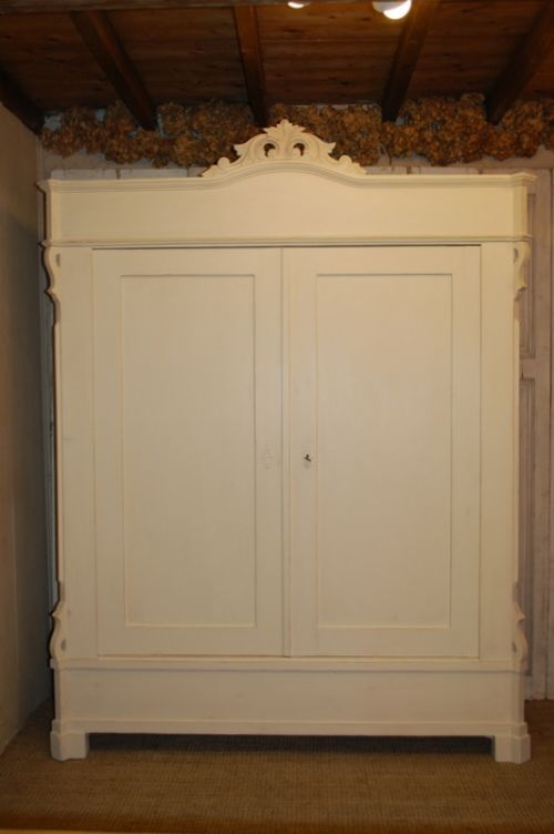 antique pine double wardrobe armoire french louis philippe style 1870