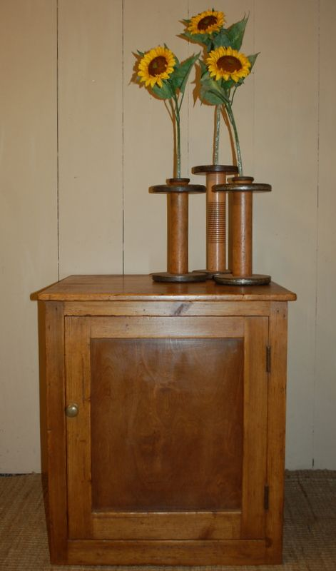 antique pine safe stand mill storage cupboard 1880