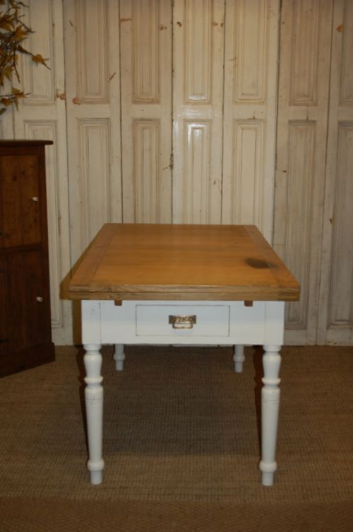 antique pine extending dining kitchen table draw leaf table 1850