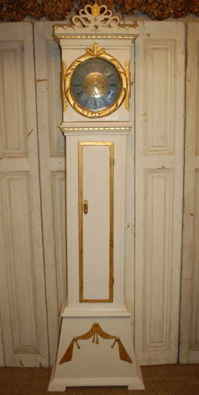 antique danish floor clock 1815 documented provenance