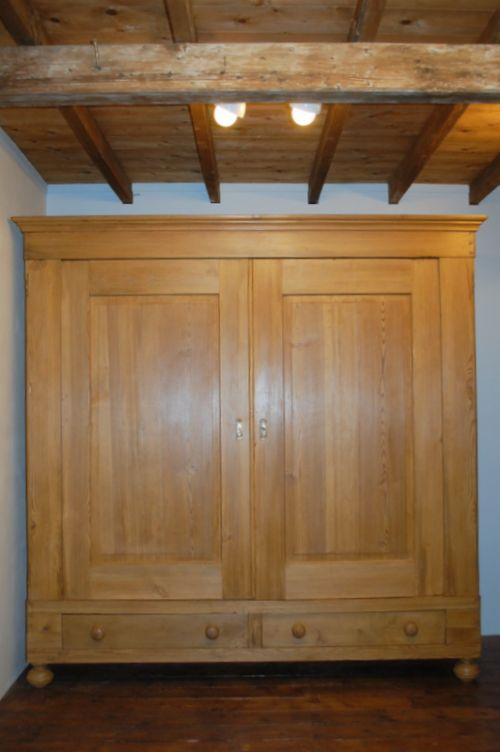 antique pine country double wardrobe 1840 large