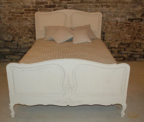 antique french provencale double bed oak 1920