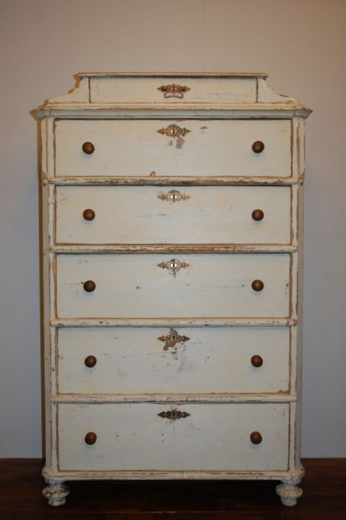 antique swedish tallboy chest of drawers 1830