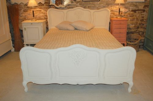 antique french louis xv revival double bed with slats