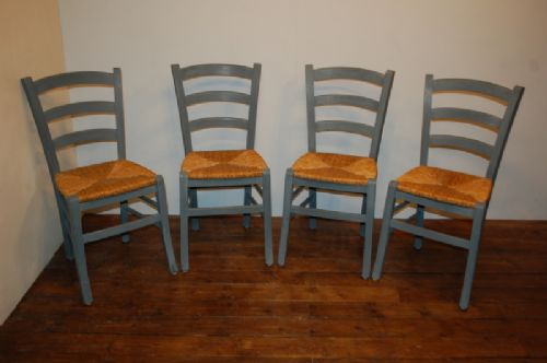 set of 4 french vintage country chairs