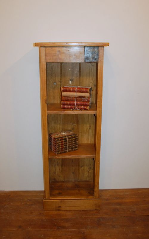 antique reclaimed mill timber bookcase no 7 slim shelf
