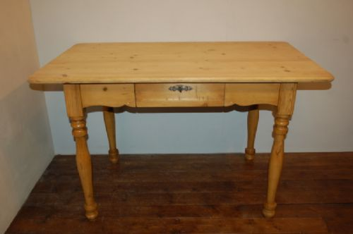 victorian pine desk table kitchen table with drawer 1880