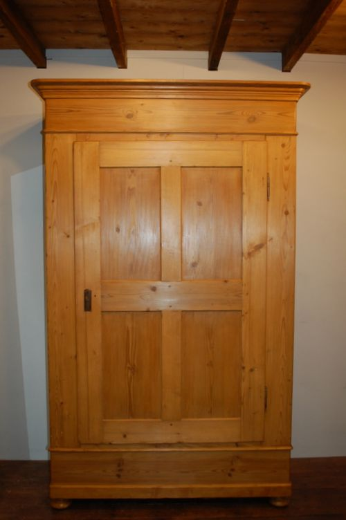antique pine single wardrobe 1850