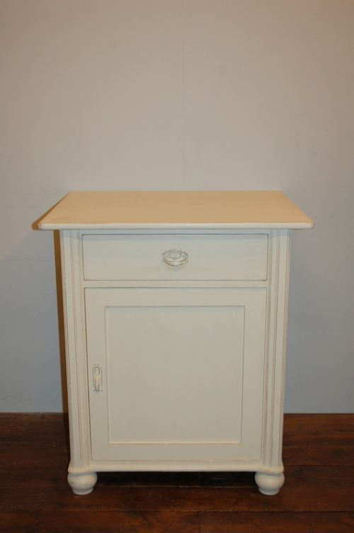 antique painted pine side cabinet large bedside cabinet 1900