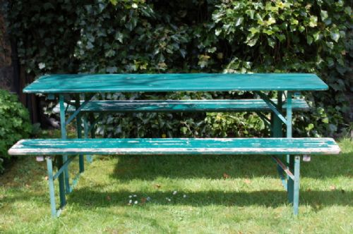 vintage continental beer garden set folding garden table and benches folding picnic set