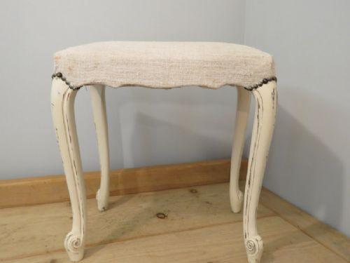 antique french louis xv revival dressing table stool 1920