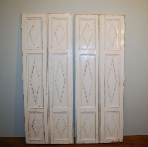 antique pair of french pine window shutters 1880