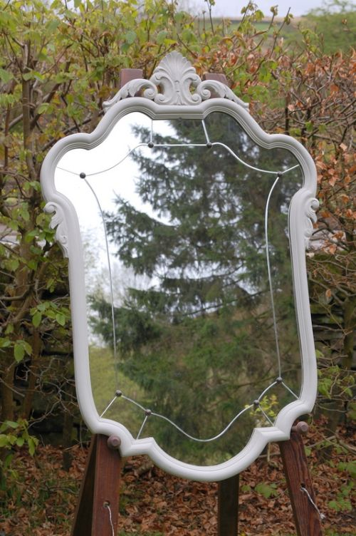antique french crested wall mirror louis xv 1890