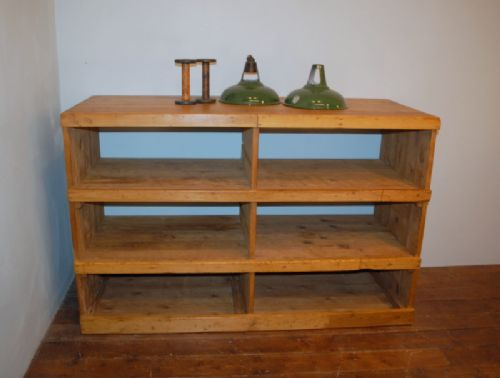 antique victorian pine pigeon hole shelf 1880