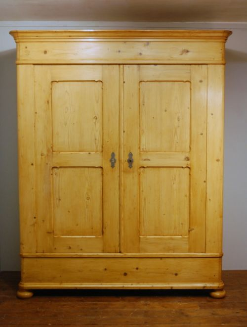 antique large pine double wardrobe armoire 1860 dismantles