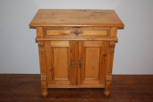 antique scandinavian small cupboard base former washstand 1870