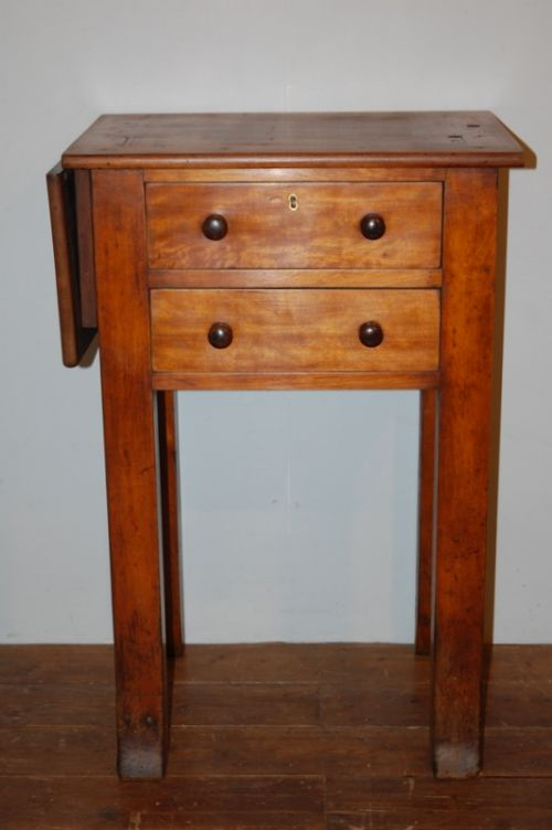 antique early victorian hardwood drop leaf book press table 1840
