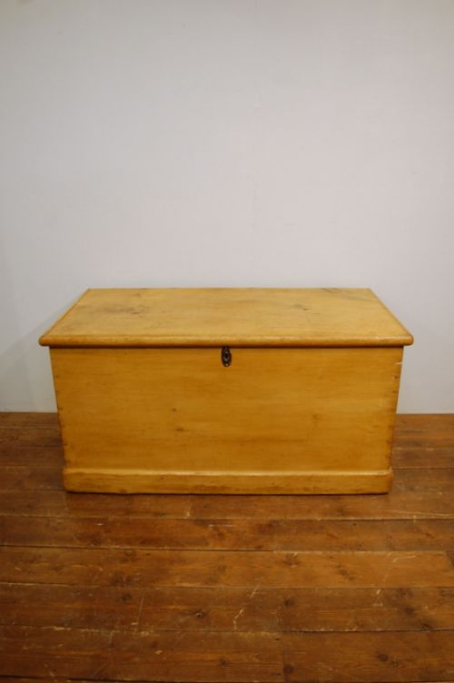 antique mid victorian blanket chest or bedding box with interior drawers 1870