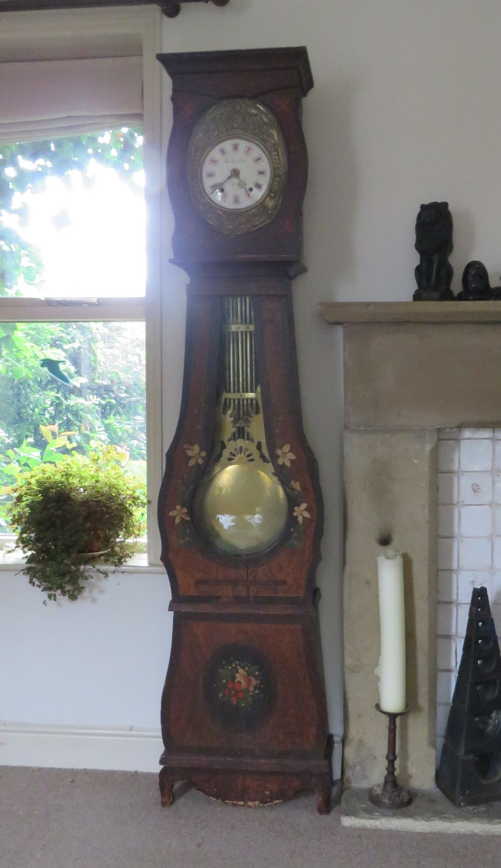 antique french comtoise longcase clock in original and working condition 1865