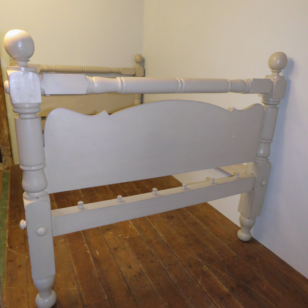 antique scottish painted sycamore crofter's 34 cottage bed 1850 dismantles
