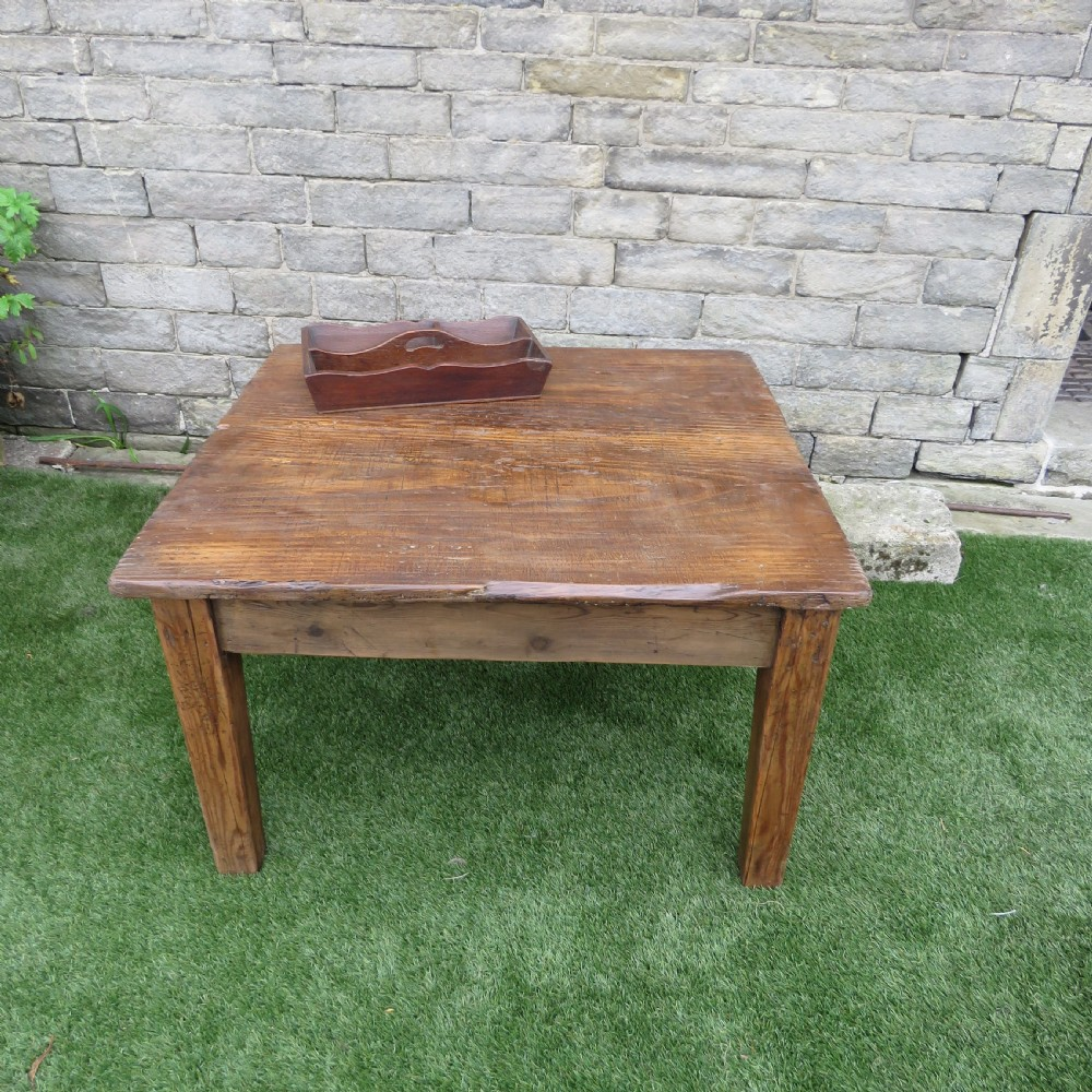 antique low pine country coffee sofa table 1870