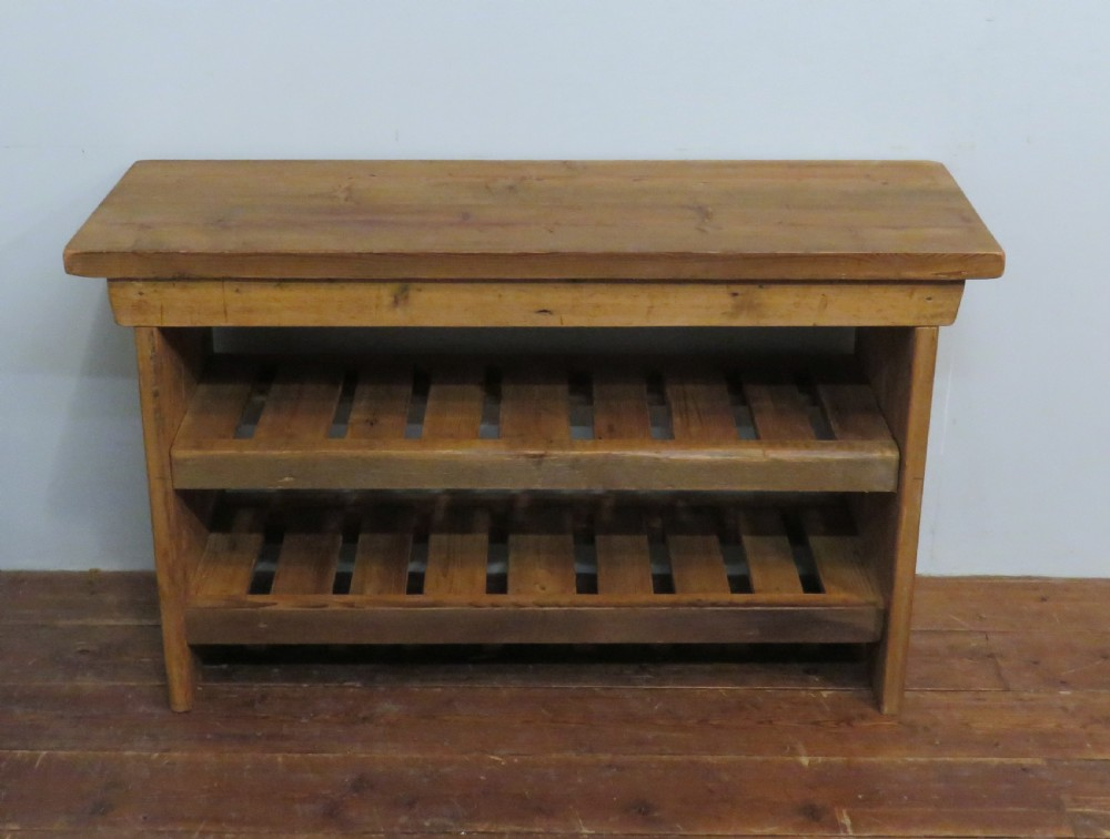 small reclaimed mill timber bench with shelves shoe bench hall bench window seat wine rack